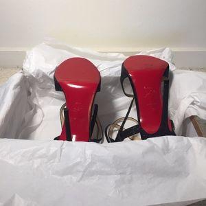 Christian Louboutin Shoes - LOUBOUTIN 100 GLITTER MINI/KID BLACK